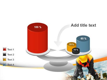 Builder On Construction Site Portrait PowerPoint Template Slide 10