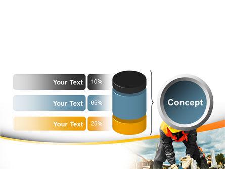 Builder On Construction Site Portrait PowerPoint Template Slide 11