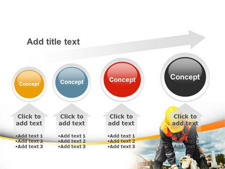 Builder On Construction Site Portrait PowerPoint Template Slide 13