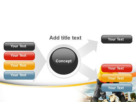 Builder On Construction Site Portrait PowerPoint Template Slide 14