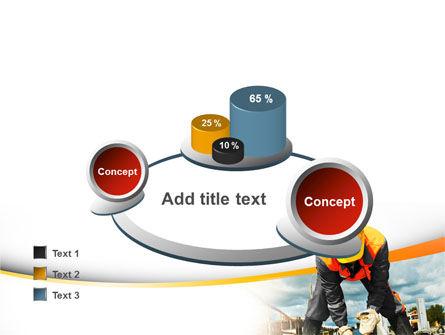 Builder On Construction Site Portrait PowerPoint Template Slide 16