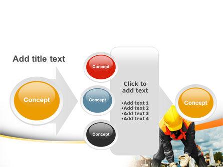 Builder On Construction Site Portrait PowerPoint Template Slide 17