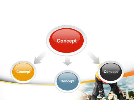 Builder On Construction Site Portrait PowerPoint Template, Slide 4, 09566, Construction — PoweredTemplate.com