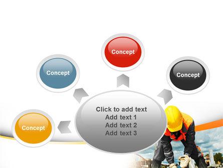Builder On Construction Site Portrait PowerPoint Template Slide 7