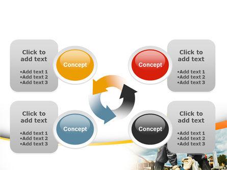 Builder On Construction Site Portrait PowerPoint Template Slide 9