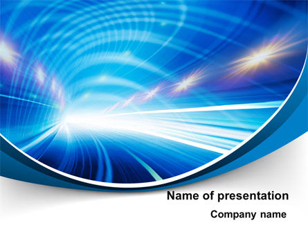 Telecommunication: Tunnel Movement PowerPoint Template #09567