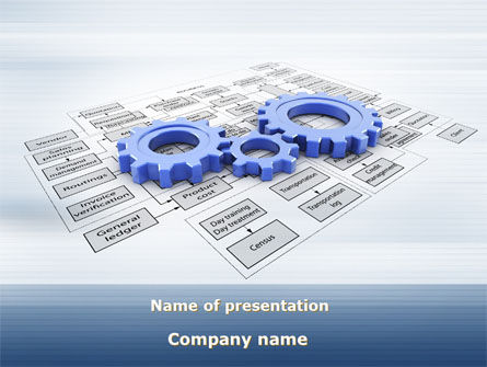 logistic Gears PowerPoint Template, 09568, Business — PoweredTemplate.com