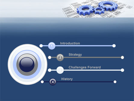 logistic Gears PowerPoint Template Slide 3