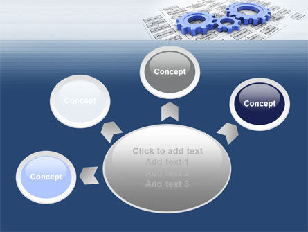 logistic Gears PowerPoint Template Slide 7