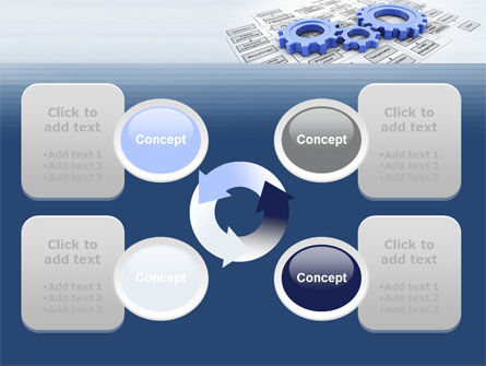 logistic Gears PowerPoint Template Slide 9