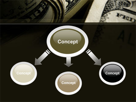 One Hundred Dollars Print PowerPoint Template, Slide 4, 09569, Financial/Accounting — PoweredTemplate.com
