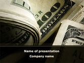 Financial/Accounting: One Hundred Dollars Print PowerPoint Template #09569