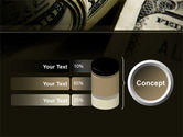 One Hundred Dollars Print PowerPoint Template#11