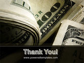 One Hundred Dollars Print PowerPoint Template#20