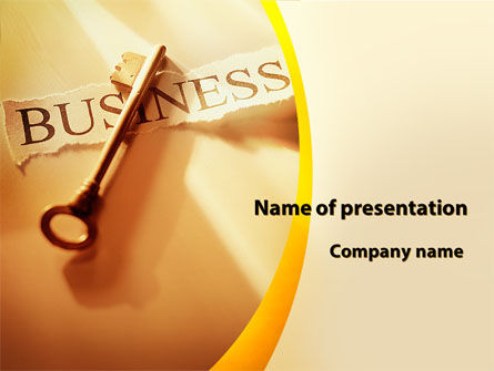 Key Of Business PowerPoint Template, 09570, Business — PoweredTemplate.com