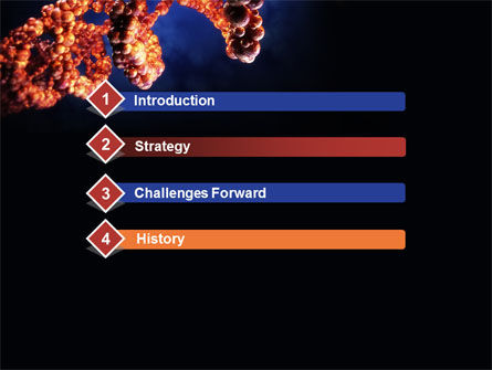 DNA Portrait PowerPoint Template, Slide 3, 09572, Technology and Science — PoweredTemplate.com