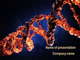 Technology and Science: DNA Portrait PowerPoint Template #09572