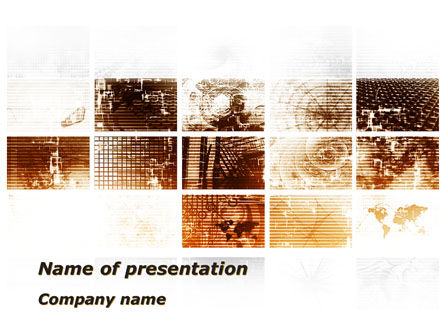 Abstract Light Brown PowerPoint Template
