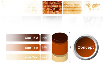 Abstract Light Brown PowerPoint Template Slide 11