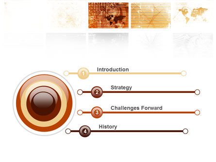 Abstract Light Brown PowerPoint Template Slide 3