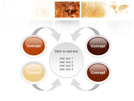 Abstract Light Brown PowerPoint Template Slide 6