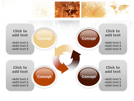 Abstract Light Brown PowerPoint Template Slide 9