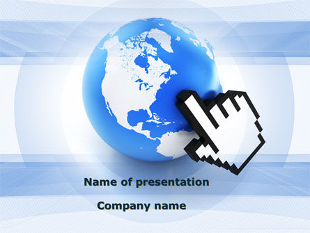 Telecommunication: World In Touch PowerPoint Template #09575
