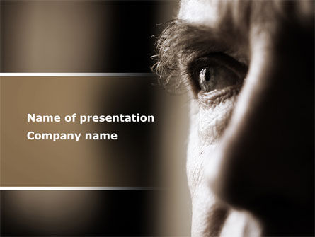 Consulting: Portrait of Old Man PowerPoint Template #09578