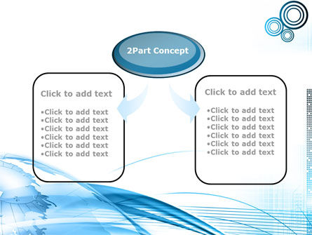 Blue Earth PowerPoint Template, Slide 4, 09581, Global — PoweredTemplate.com