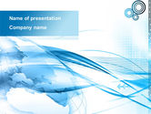 Global: Blue Earth PowerPoint Template #09581