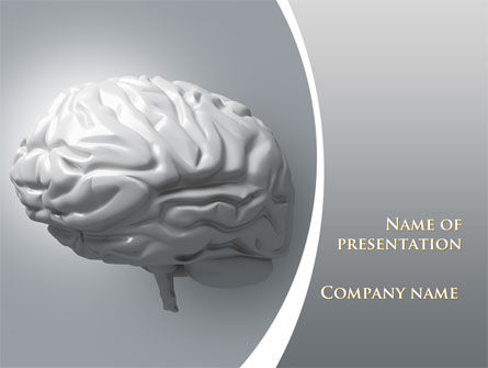 Human Cerebrum PowerPoint Template, 09582, Medical — PoweredTemplate.com