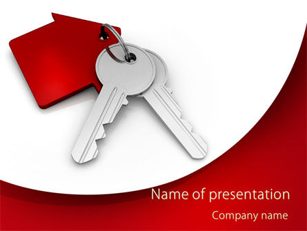 Real Estate: Red Bunch Of Keys PowerPoint Template #09583