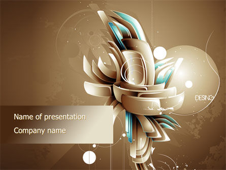 Art of Design PowerPoint Template, 09584, Art & Entertainment — PoweredTemplate.com