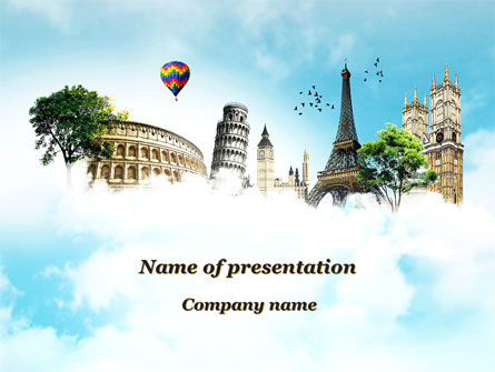 Vacation In Europe PowerPoint Template, 09585, Holiday/Special Occasion — PoweredTemplate.com