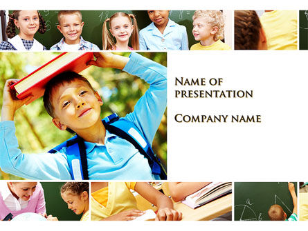Primary school kids powerpoint template backgrounds 09587 primary school kids powerpoint template 09587 education training poweredtemplate toneelgroepblik Image collections