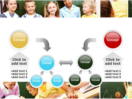 Primary School Kids PowerPoint Template Slide 19