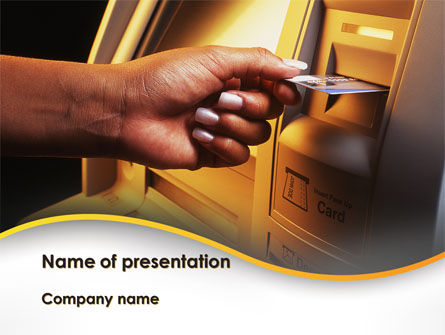 Financial/Accounting: Cashpoint PowerPoint Template #09589