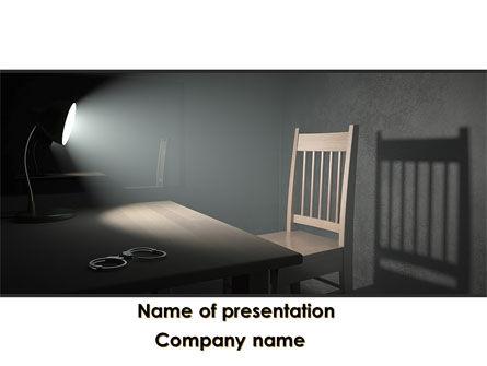 Interrogation Cell PowerPoint Template, 09590, Legal — PoweredTemplate.com