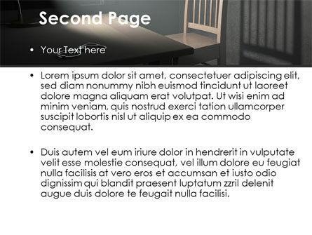 Interrogation Cell PowerPoint Template, Slide 2, 09590, Legal — PoweredTemplate.com