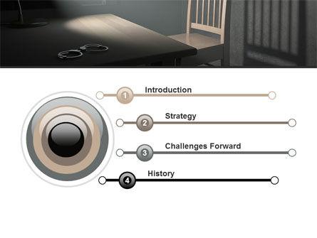 Interrogation Cell PowerPoint Template, Slide 3, 09590, Legal — PoweredTemplate.com