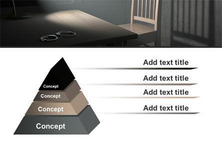 Interrogation Cell PowerPoint Template, Slide 4, 09590, Legal — PoweredTemplate.com
