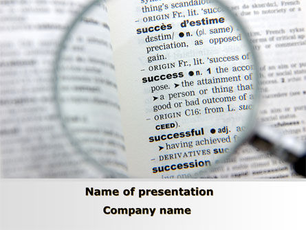 Success As Is PowerPoint Template, 09592, Business — PoweredTemplate.com