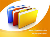 Business Concepts: Document Cases PowerPoint Template #09594
