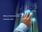 Technology and Science: Modelo do PowerPoint - ferramenta de gerenciamento de alta tecnologia #09596