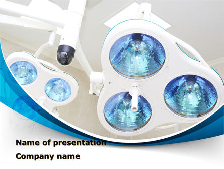 Medical: Medical Lamp PowerPoint Template #09598