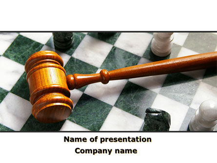 Gavel PowerPoint Template, 09599, Legal — PoweredTemplate.com