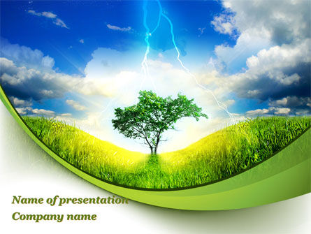 Nature & Environment: Lonely Tree PowerPoint Template #09600