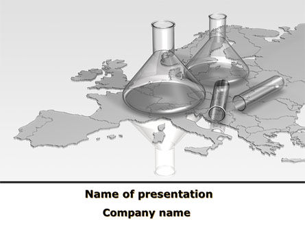 Laboratory Equipment of Europe PowerPoint Template, 09603, Careers/Industry — PoweredTemplate.com