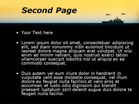 US Ship Tortuga PowerPoint Template Slide 2