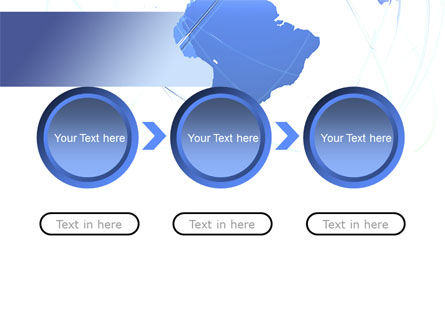Blue Globe Silhouette PowerPoint Template Slide 5